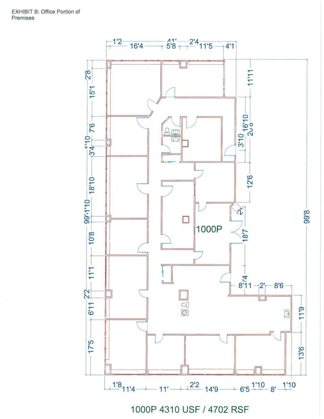 Floor Plan for unit 1000P at 20755 Greenfield Rd - 10th Floor Southfield, MI 48075