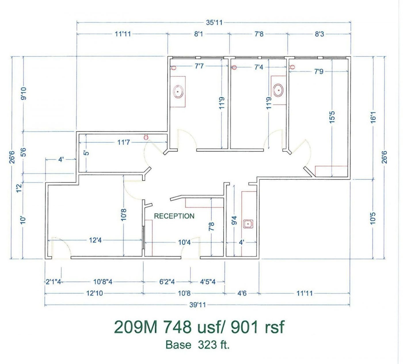 Floor Plan for unit 209M at 20905 Greenfield Rd - 2nd Floor Southfield, MI 48075