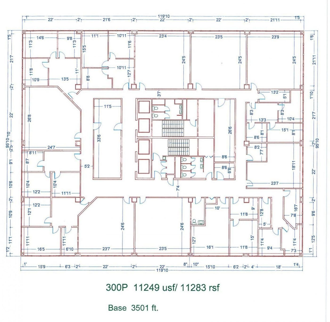 Floor Plan for unit 300P at 20755 Greenfield Rd - 3rd Floor Southfield, MI 48075