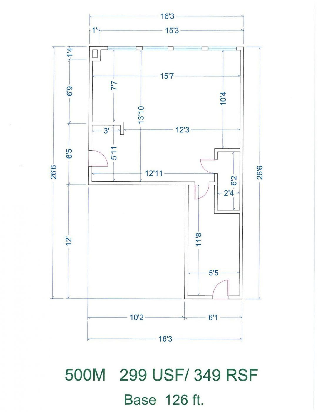 Floor Plan for unit 410M at 20905 Greenfield Rd - 4th Floor Southfield, MI 48075