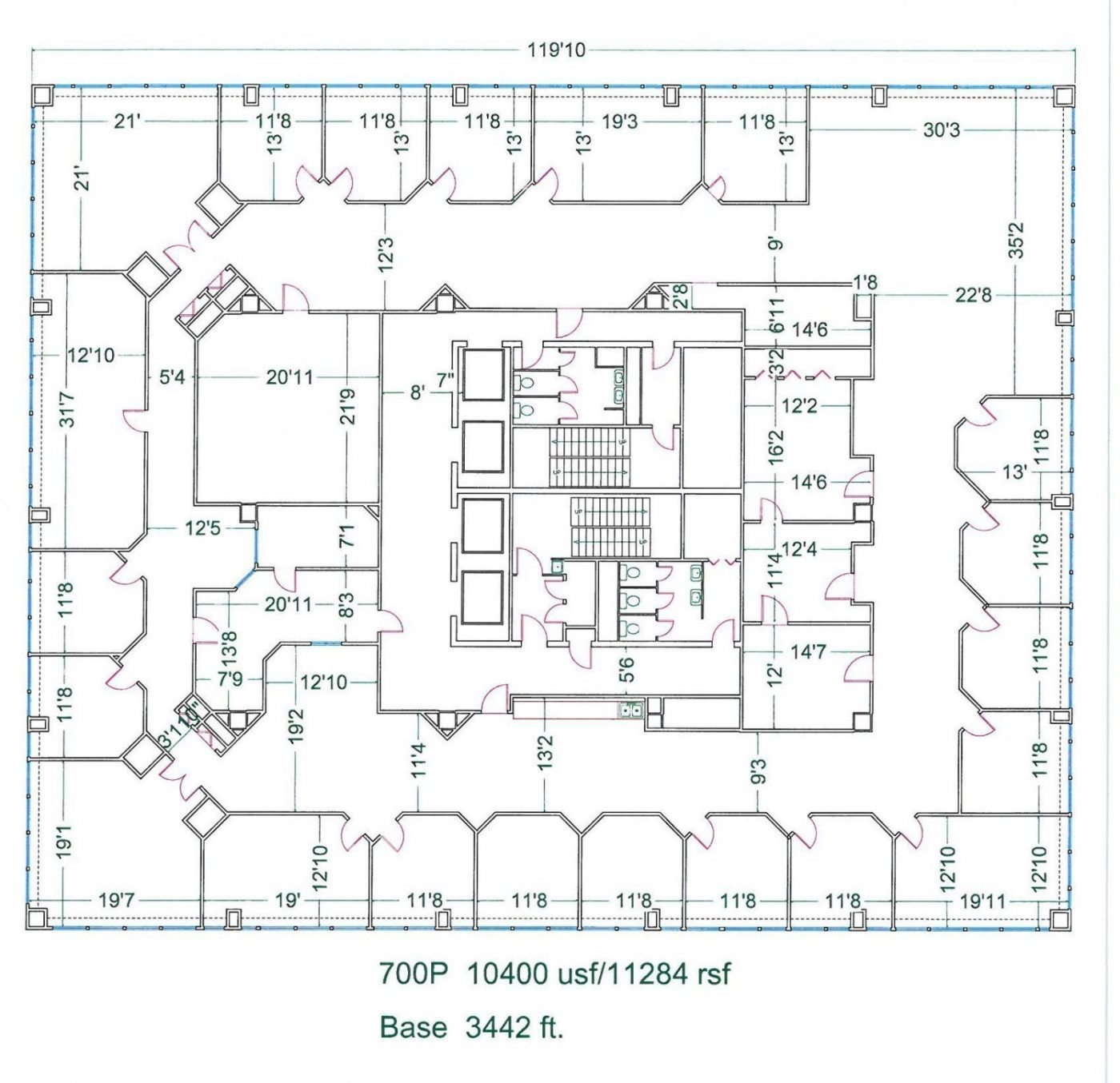 Floor Plan for unit 700P at 20755 Greenfield Rd - 7th Floor Southfield, MI 48075
