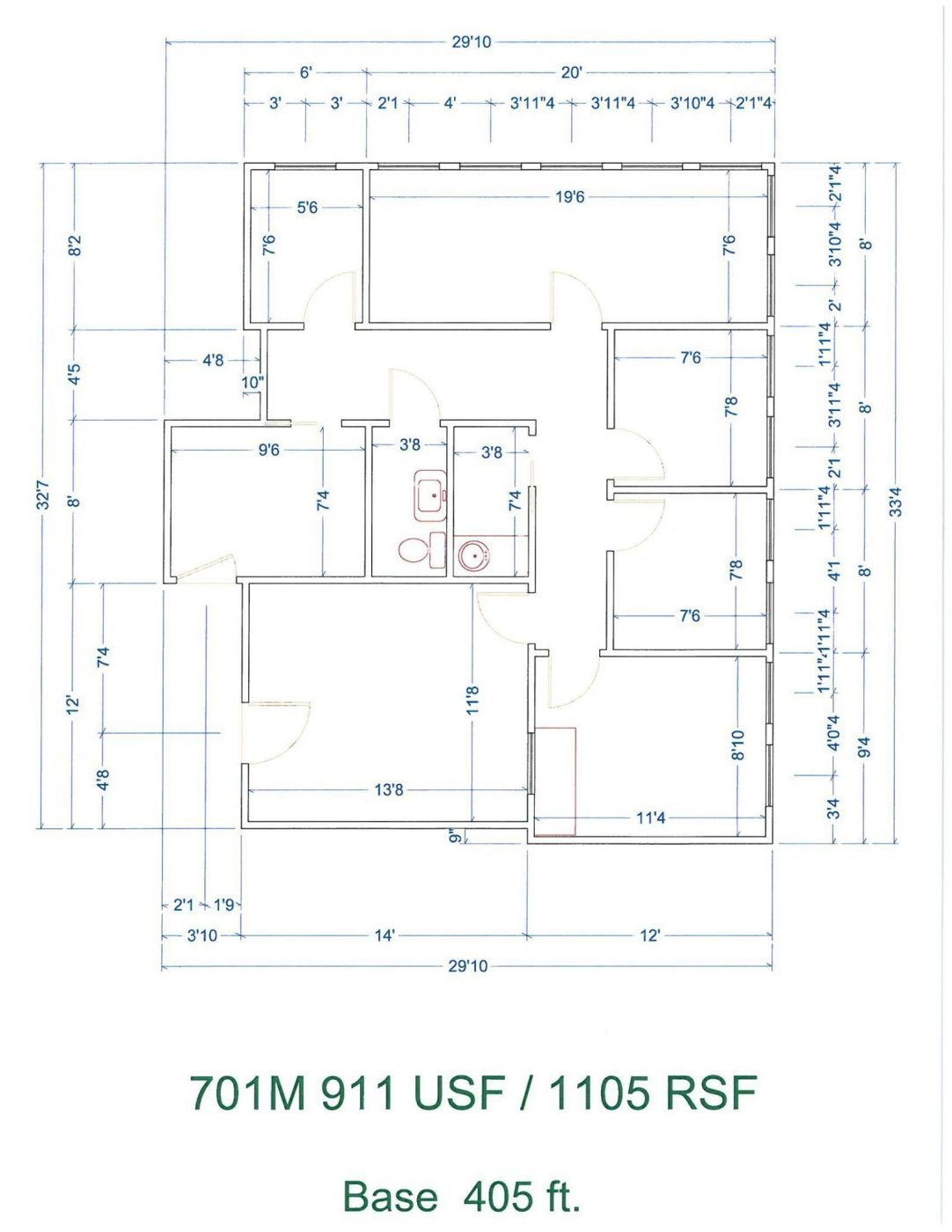 Floor Plan for unit 701M at 20905 Greenfield Rd - 7th Floor Southfield, MI 48075