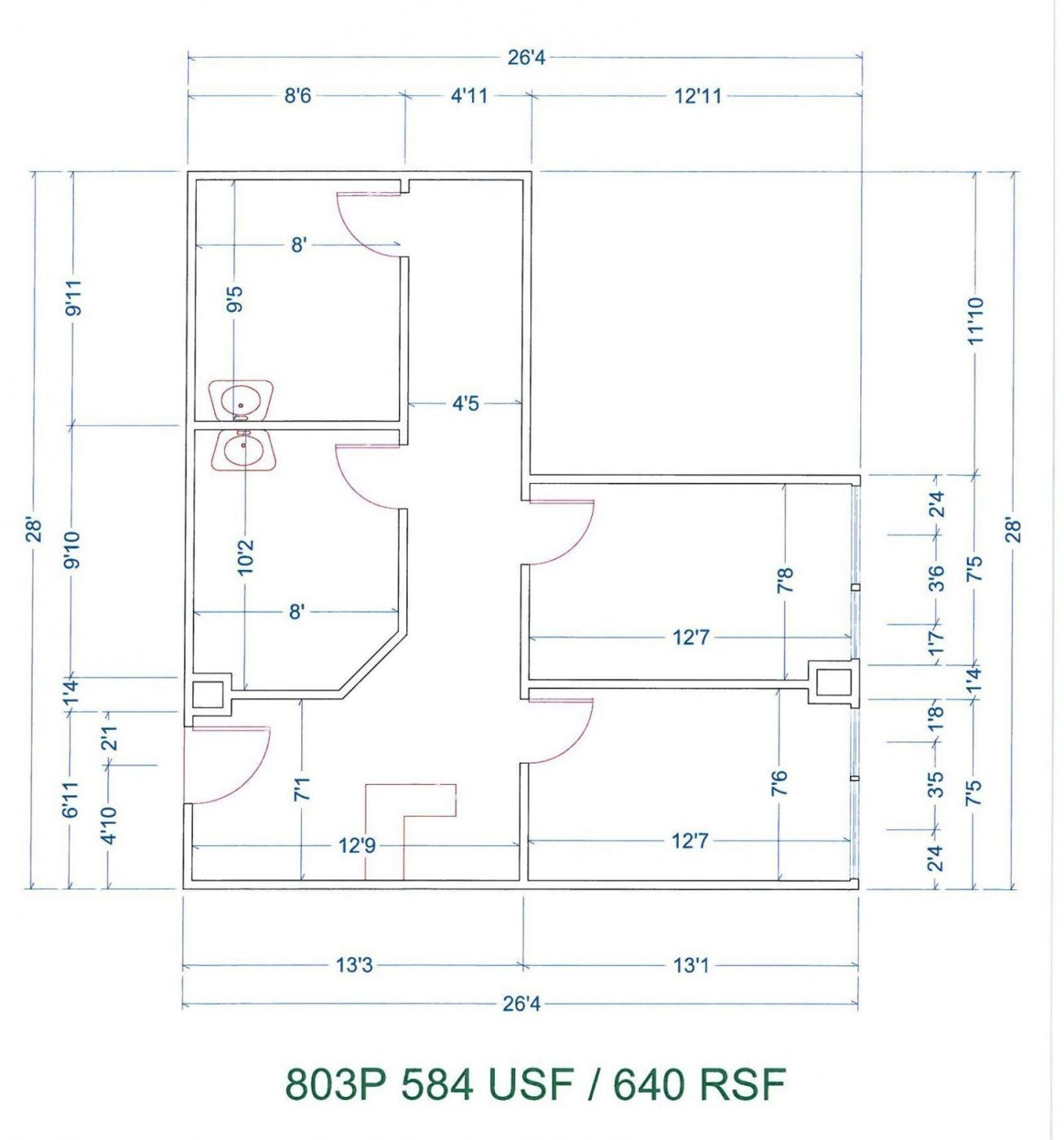 Floor Plan for unit 803P at 20755 Greenfield Rd - 8th Floor Southfield, MI 48075