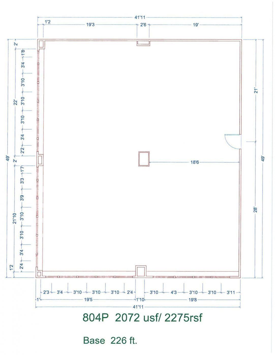 Floor Plan for unit 804P at 20755 Greenfield Rd - 8th Floor Southfield, MI 48075