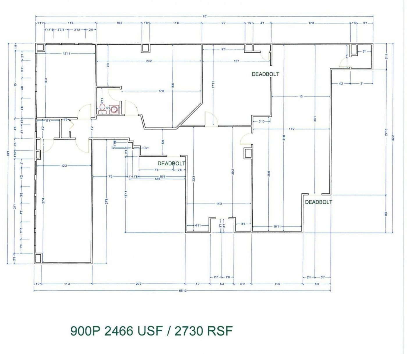 Floor Plan for unit 900P at 20755 Greenfield Rd - 9th Floor Southfield, MI 48075