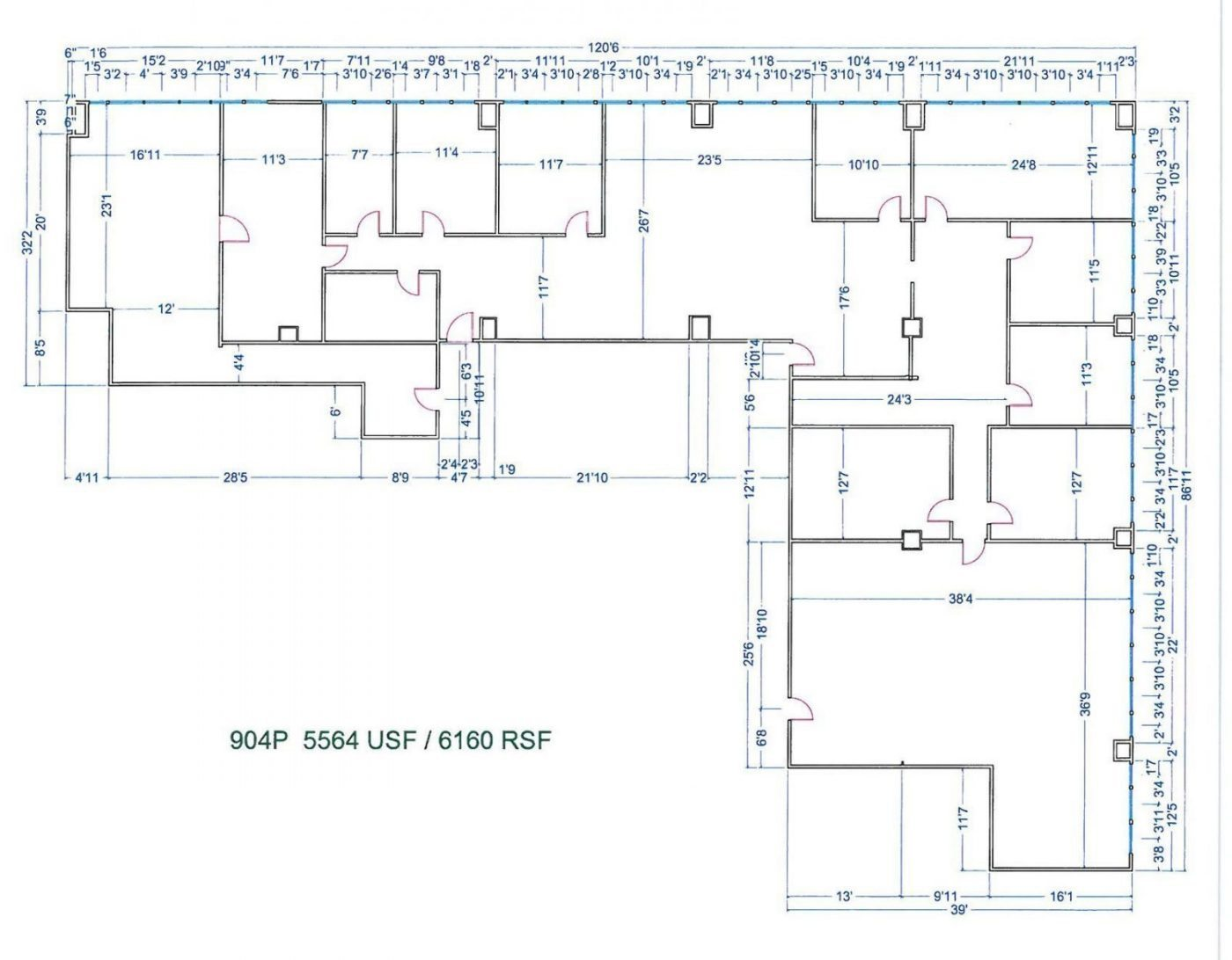 Floor Plan for unit 904P at 20755 Greenfield Rd - 9th Floor Southfield, MI 48075