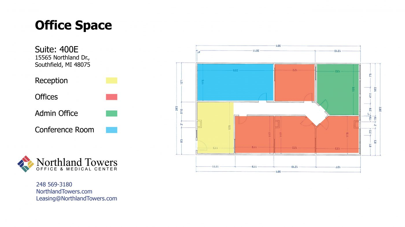 400 E Office Space - Highlighted Floor Plan