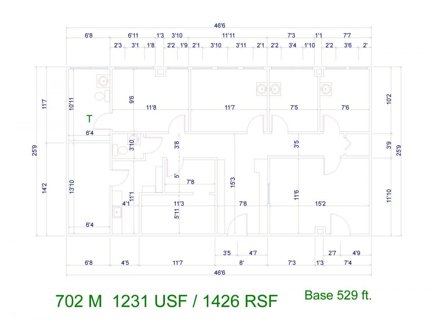 Floor Plan for unit 702M at 20905 Greenfield Rd - 7th Floor Southfield, MI 48075