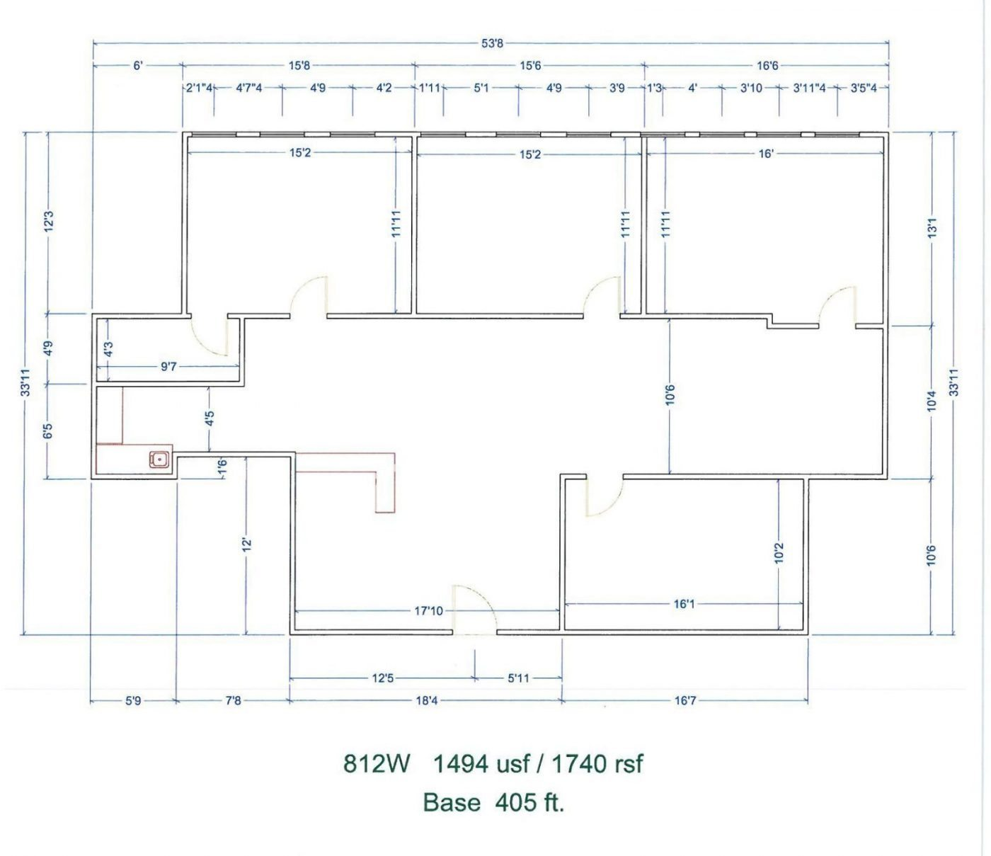 Floor Plan for unit 812W at 15565 Northland Dr Southfield, MI 48075