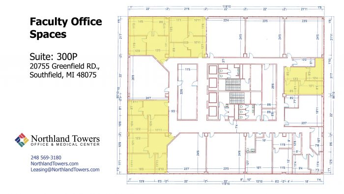 School space for lease featuring faculty offices