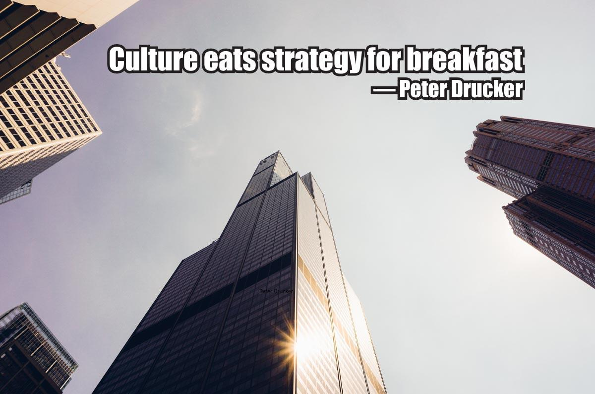 """Culture eats strategy for breakfast"" – Peter Drucker"