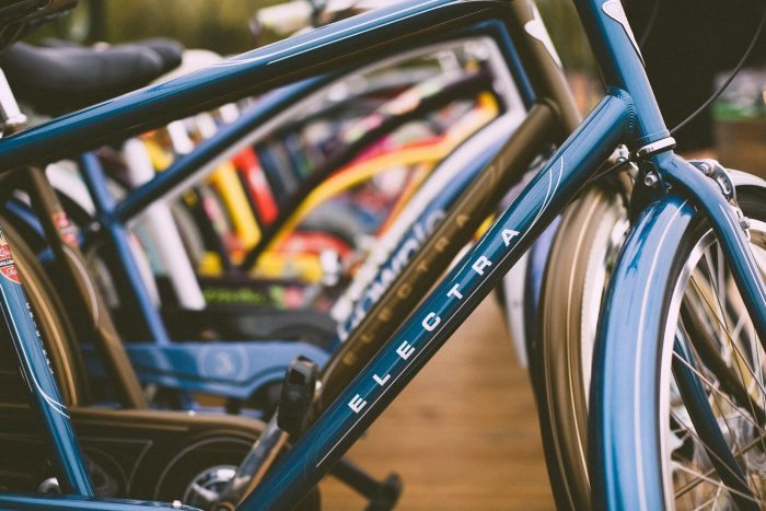 Providing bike racks is one way you can help employees cut the carbon impact of their journey to work
