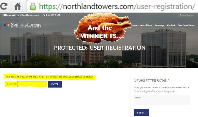 User registration push