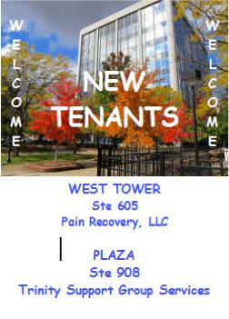 Welcome new tenants